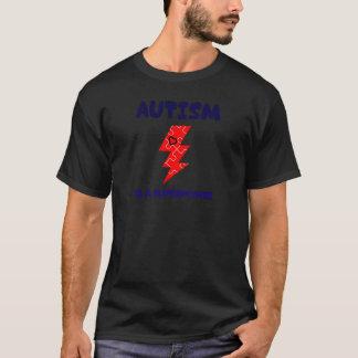 Camiseta O autismo é superpotência, mente mental da saúde