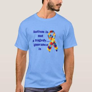 Camiseta O autismo não é uma tragédia, ignorância é