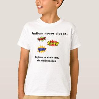 Camiseta O autismo nunca dorme t-shirt