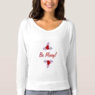 Camiseta O azevinho da lavanda sae do t-shirt das mulheres