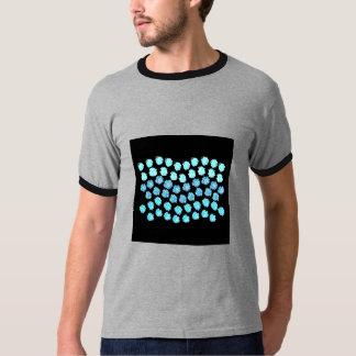 Camiseta O azul acena o t-shirt da campainha dos homens