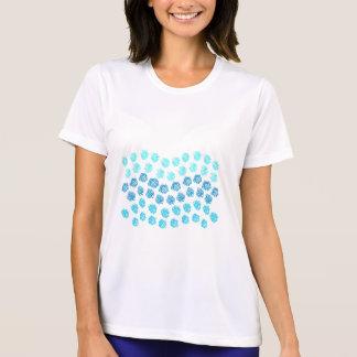 Camiseta O azul acena o t-shirt dos esportes das mulheres