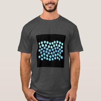 Camiseta O azul acena o t-shirt escuro básico dos homens