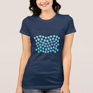 Camiseta O azul acena o t-shirt favorito do jérsei das
