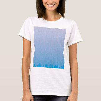 Camiseta O azul desvanece-se