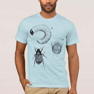 Camiseta O azul dos insetos e dos besouros coube semi o