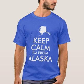 Camiseta O azul e o branco mantêm a calma que eu sou de