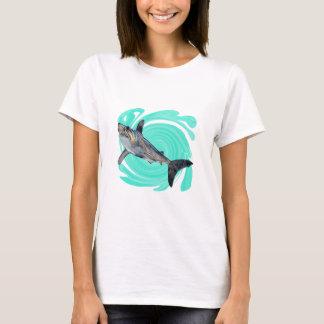 Camiseta O azul profundo