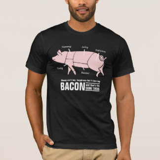 Camiseta O bacon é carta engraçada do carniceiro do porco