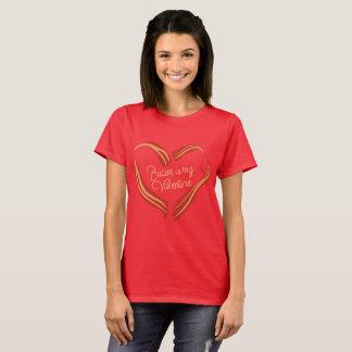 Camiseta O bacon é meu Valentine.