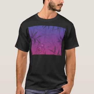 Camiseta O bambu do inseto sae do rosa e do teste padrão