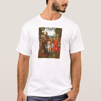 Camiseta O baptismo de Jesus pintou pelo mestrado