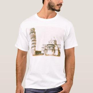 Camiseta O Baptistry de St John e torre inclinada de Pisa