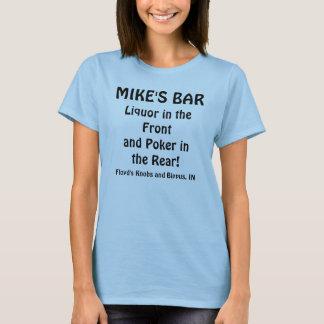 Camiseta O BAR do MICROFONE, licor no póquer de Frontand
