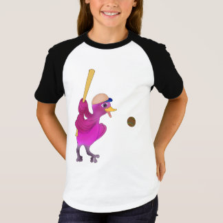 Camiseta O basebol da menina feliz pelos Feliz Juul Empresa