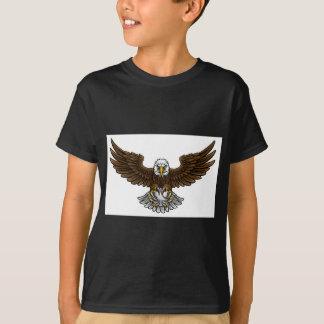 Camiseta O basebol de Eagle ostenta a mascote