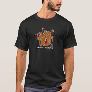 Camiseta O basquetebol nunca para