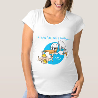 Camiseta O bebê é o t-shirt de maternidade das mulheres de