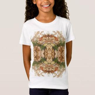 Camiseta O Bella das meninas+T-shirt cabido canvas da