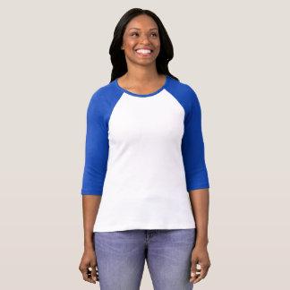Camiseta O Bella das mulheres+Corte do t-shirt do Raglan da