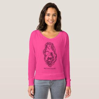 Camiseta O Bella das mulheres da maternidade+Canvas Flowy