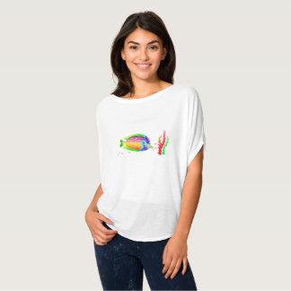 Camiseta O Bella das mulheres dos peixes de mar+Parte