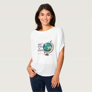 Camiseta O Bella das mulheres+Parte superior do círculo de
