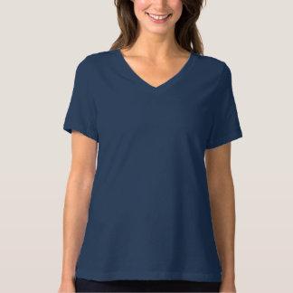 Camiseta O Bella das mulheres+T-shirt apto relaxado canvas