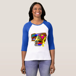 Camiseta O Bella das mulheres+T-shirt da luva das canvas