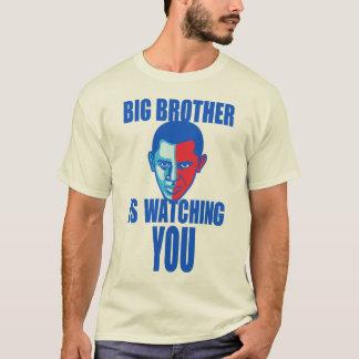 Camiseta O big brother está olhando-o (versão de Barack