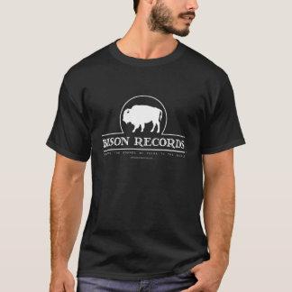 Camiseta O bisonte grava o t-shirt escuro dos homens