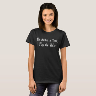 Camiseta O boato é jogo verdadeiro de I o geek da banda do