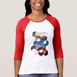 Camiseta O bom design vai ao céu 3/4 de t-shirt da luva