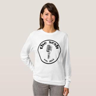 """Camiseta """"O branco da crista do sesh"""" das mulheres"""