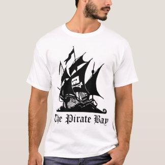Camiseta O branco do t-shirt da baía do pirata