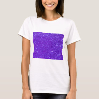 Camiseta O brilho roxo da faísca projeta seus próprios