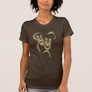 Camiseta O Brown T das mulheres da máscara do teatro da