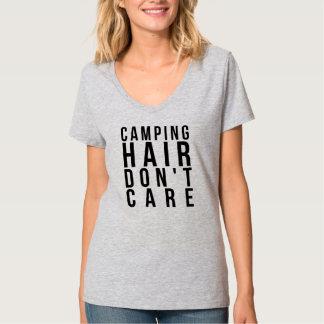 Camiseta O CABELO de ACAMPAMENTO NÃO SE IMPORTA o t-shirt