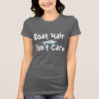 Camiseta O cabelo do barco não se importa