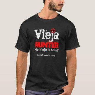 """Camiseta O caçador de Vieja """"nenhum Vieja é SEGURO """""""