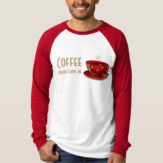 Camiseta O café compreende/w/Tan-T-shirt/Hoodies vermelho