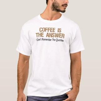 Camiseta O café é a resposta