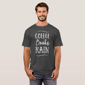 Camiseta O café registra a leitura do tempo da chuva