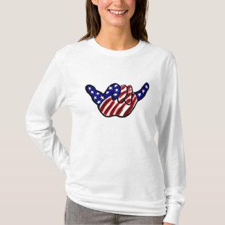 Camiseta O cair patriótico afrouxa o hoodie