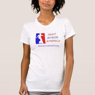 Camiseta O Cami das mulheres - skate através de América
