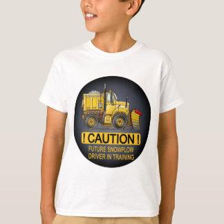 Camiseta O camionista futuro do arado de neve caçoa o