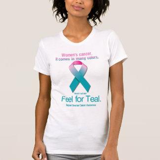 Camiseta O cancer das mulheres. Vem em muitas cores