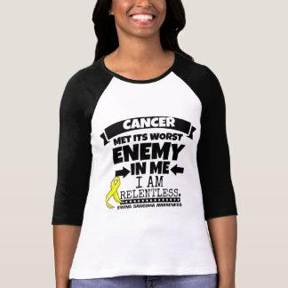 Camiseta O cancer do Sarcoma de Ewing encontrou seu inimigo