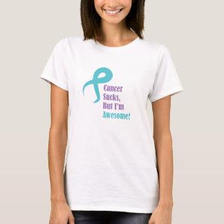 Camiseta O cancer suga mas eu sou câncer de ovário