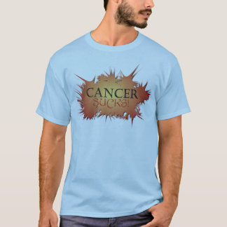 Camiseta O cancer suga o T gráfico azul
